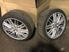 Pair alloy wheels  to fit LEXUS is200 + 7mm 225 40 18 Nankang tyres track drift