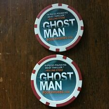 2 Ghost Man Poker Chips - Comic Con