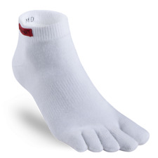 injinji Sport Micro Coolmax Toe Socks White Small Men 5-7.5 Women 6-8.5 Ankle