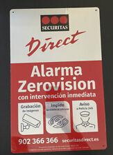 Placa alarma disuasoria grande Securitas Direct. MODELO 2020