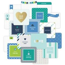 """PROJECT LIFE ~ 4"""" x 4"""" Cards 12 pack ~ Baby Boy ~ includes Gold Foil 380544"""