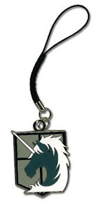 Attack On Titan Military Police Emblem Cell Phone Charm GE17203