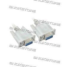 CAVO SERIALE DB9 RS232 9 pin FEMMINA to 9 pin femmina 1,5 mt NO NULL MODEM DRITT