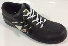 Men's BUFFALINO BLACK/WHITE Lace Up Sneaker Shoes New