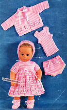 "BABY DOLL SET 6 pieces /  for 14"" 36cm QUICK KNIT- COPY doll knitting pattern"