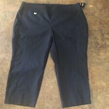 Alfani Capri Pants Womens Size 24W Navy Blue Tummy Control Plus