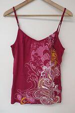 S. Oliver Damen Top pink Paisley gemustert 38 - M einmal getragen