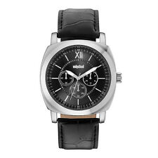 Unlisted Kenneth Cole Men's Analog Black Leather Band Watch UL1957
