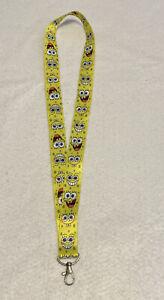 Lanyard Sponge Bob Square Pants - ID/ Holder Keychain NEW