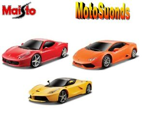 MAISTO 1:24 MOTOSOUNDS SCALE MODEL CAR GIFT TOY FERRARI AND OTHER MODELS