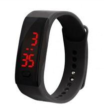 Reloj deportivo Negro digital LED Niños Niñas Niños Impermeable de Hombre y Mujer Regalo