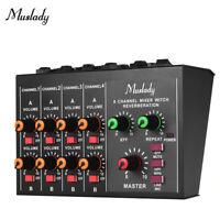 New 8 Channel Live Mixing Studio Audio Sound Mixer Console USB 48V phantom L3U0