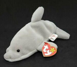 TY 1993 FLASH the DOLPHIN BEANIE BABY - MINT with MINT TAGS