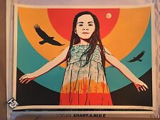 ERNESTO YERENA Signed &# Poster INDIGENOUS ROOTS DENIED art print Shepard Fairey