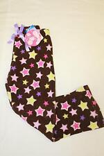 NEW Girls Pajamas PJ Pants Size 4 Lounge Wear Brown Star Soft Bottoms Sleep Warm