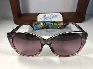 Maui Jim Mele MJ 794-09C Mossy Blush Peach Sunglasses Maui Rose Polarized Lens