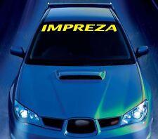 Para Subaru Impreza Coche Pegatina de vinilo parachoques parabrisas banner jdm calcomanías gráficos
