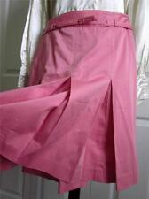 """TED BAKER Pink Cotton Blend Pleated Skirt with Belt Sz 2 Ted Size/6 US/30"""" waist"""