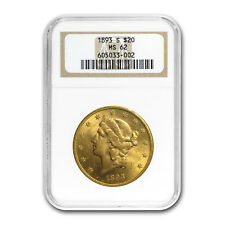 1893-S $20 Liberty Gold Double Eagle MS-62 NGC - SKU#22616
