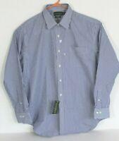 Lauren Ralph Lauren Mens 2XL 17-1/2 34/35 Blue Striped Button Front Shirt NWT