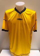 maglia calcio Umbro gialla vintage official tag.XL shirt trikot maillot MC64