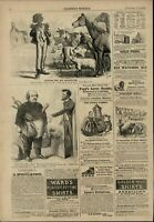 Black Slave Farm Animals Racism Abe Lincoln 1863 great old print for display