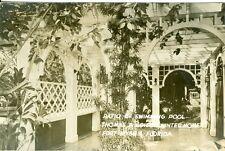 Fort Myers, FL Swimming Pool Patio, Thomas A. Edison Winter Home RPPC