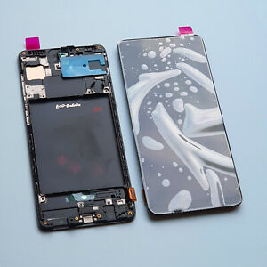New Samsung Galaxy A71 A715 Frame Touch LCD Display Screen Digitizer Replacement