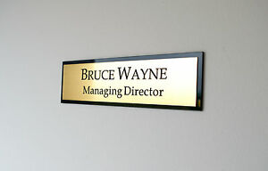 20cm x 9cm Personalised Office Wall Plate, Custom Engraved Sign, Plaque door