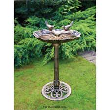 Bronze Effect Traditional Outdoor Garden Bird Bath Weatherproof Free Standing