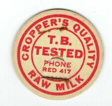 INDIANA IND IN MILK BOTTLE CAP CROPPERS DAIRY in Winchester IND IN Indiana dairy