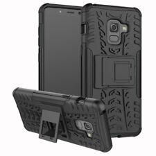 Carcasa híbrida 2 piezas EXTERIOR BOLSILLO Negro Funda para Samsung Galaxy A8