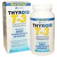 Absolute Nutrition, T3 Thyroid T-3, Original Formula, 180 Capsules