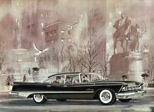 Old Print. Black 1959 Imperial LeBaron Four-Door Sedan Auto Ad