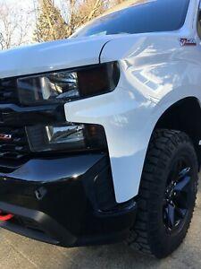 Chevy Silverado Trail Boss Smoked TINT Headlight Corner Blackout Amber Delete