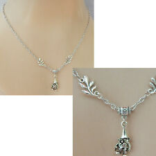 New ListingGnome Necklace Silver Pendant Jewelry Handmade New Garden Gnome Chain Women