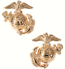 usmc insignia marine corps pins for uniform use gold plated globe & anchor 1548