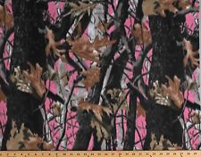 Fleece Deep Woods Camo Pink Camouflage Fleece Fabric Print by the Yard (A505.29)
