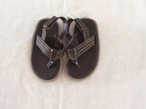 Gap Boys Brown Leather Sandal Size 7T/8T