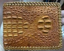 Genuine Crocodile Alligator Skin Leather Men's Wallet Orange