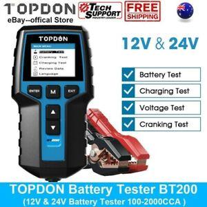 Digital Battery Analyzer TOPDON BT200 12/24V Car Battery Load Tester CCA100~2000