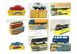 Dinky Toys - Aston, Triumph, Jeep, Renault, Camions et voitures 1:43, 1:50 - Atl