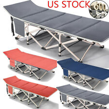 Camping Cot Folding Bed Collapsible Sleeping Bed w/Bag for Indoor & Outdoor Use