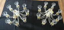 CRYSTAL CHANDELIERS (X2)
