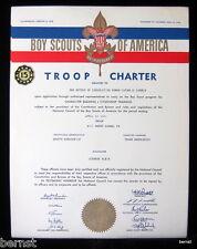 1960 BOY SCOUT - TROOP CHARTER - TROOP 161- MOUNT CARMEL, PENNSYLVANIA