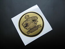 ROYAL ENFIELD GUN round gold sticker/decal x1