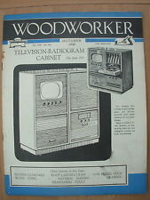 VINTAGE WOODWORKER MAGAZINE OCTOBER 1960 BEDSIDE CUPBOARD - WOOD BOWL