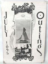 July 1895 Art Nouveau POSTER Sailing Long Island Sound OUTING magazine HS WATSON