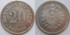 TOP! 20 Pf 1876 F in BANKFRISCH / STEMPELGLANZ SELTEN !!!