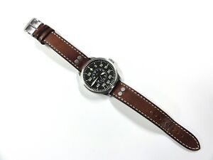 LACO -AACHEN 42 FLIEGER TYPE-B DIAL MENS AUTOMATIC PILOT WATCH SAPPHIRE CRYSTAL